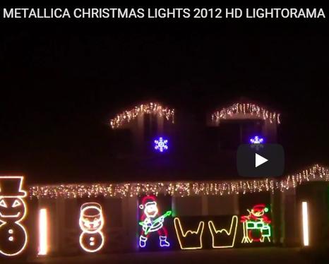 METALLICA CHRISTMAS LIGHTS 2012 HD LIGHTORAMA