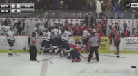 An Atlantic University Sport Men's hockey game in Wolfville, N.S. became heated on Saturday night as the Acadia Axemen and St.FX X-Men were involved in a wild bench clearing brawl.