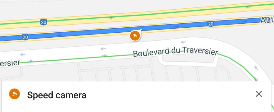 Google Maps now warning you of nearby photo radar