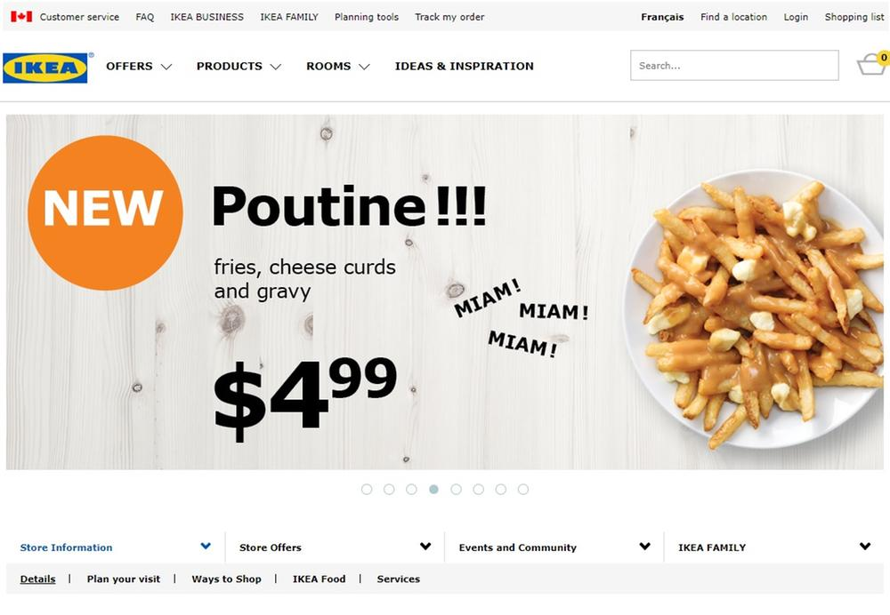 Ikea now serves poutine?!