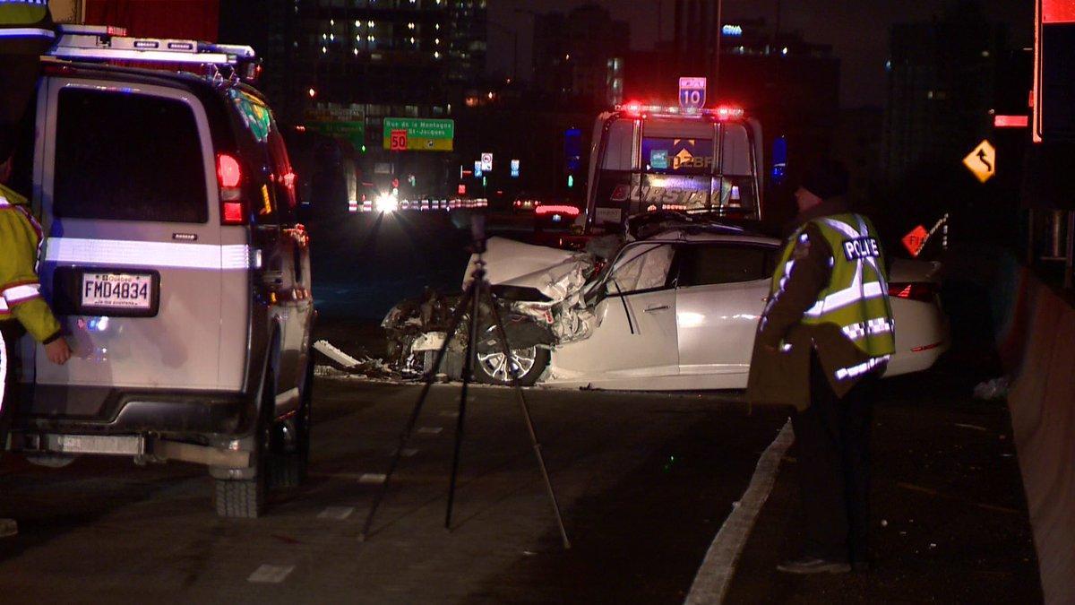 Montr 201 Al Un Chauffeur De Camion Cause Un Grave Accident