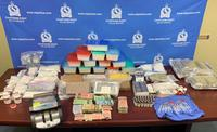 More than $2.6 million in drugs, along with cash and guns were seized in a raid in Chatham, Ont. on Wednesday, April 10, 2019. (Source: Chatham-Kent Police Service)