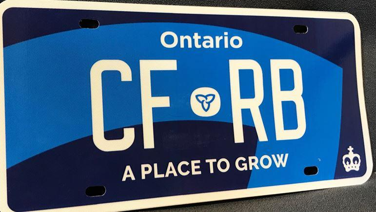 The new blue licence plates