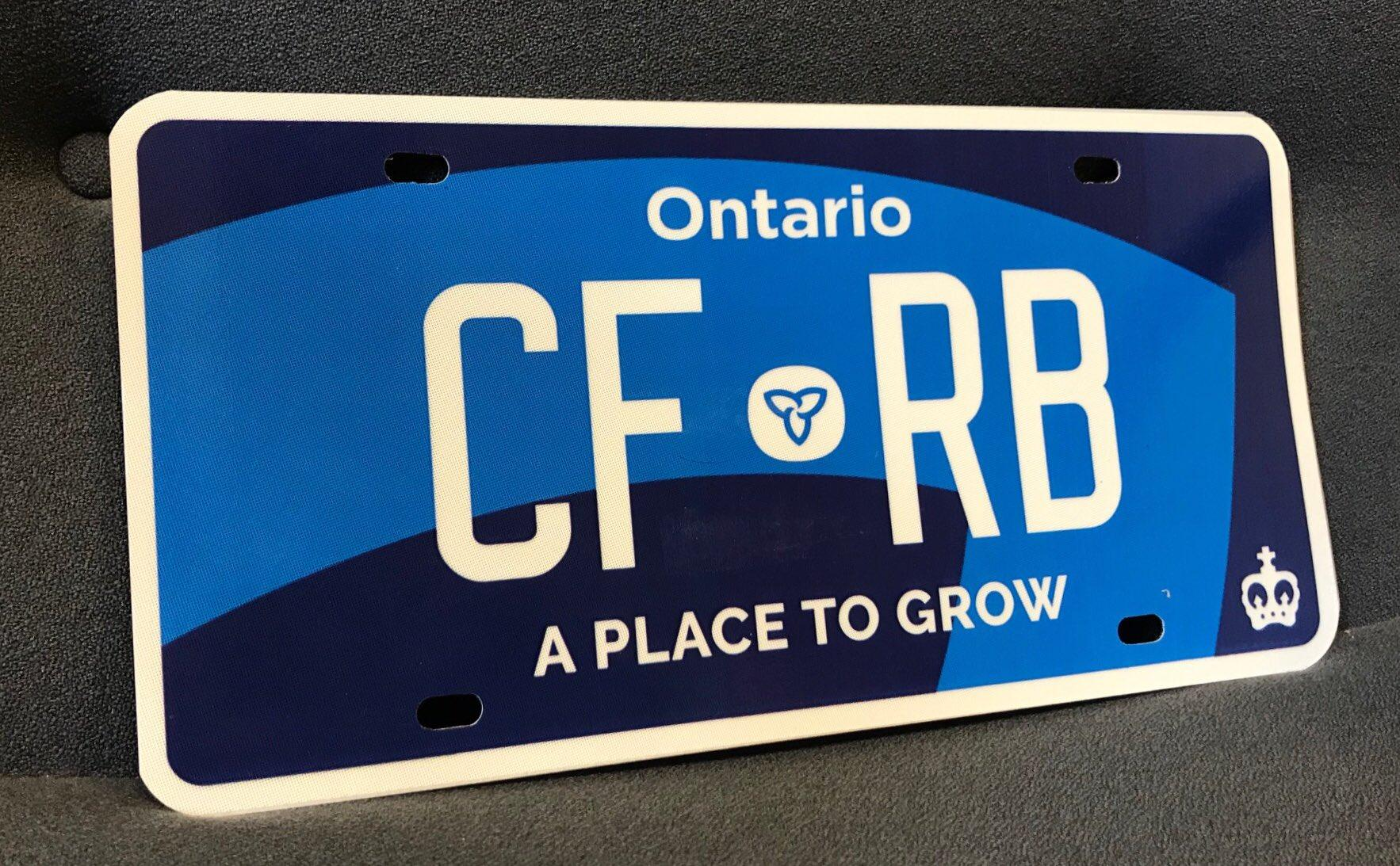 New double blue Ontario licence plate