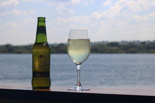 Beer and Wine at lake