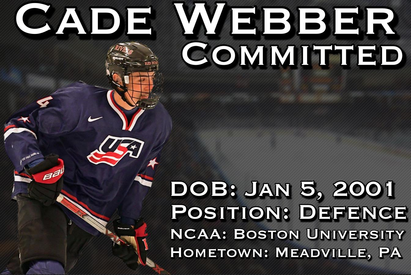 Defenceman Cade Webber commits to Vees for 2019-20