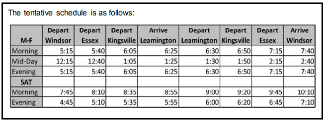 am800-news-transit-tentative-schedule-leamington