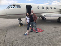 Tom Termeer prepares to fly to the U.S. to get treatment for his cluster headaches on Wednesday, May 15, 2019. (@ClusterHeadTom / Twitter)