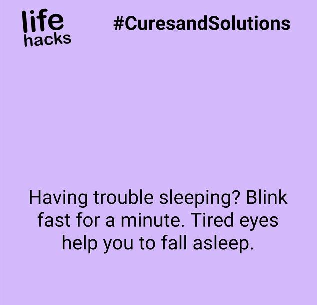 Hack Of The Night : Another trick to fall asleep