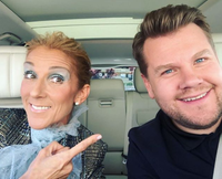Celine Dion and James Corden (youtube)