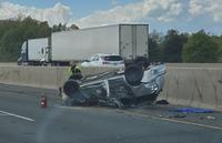 A 4-year-old girl was ejected from an SUV in a crash on the 401 eastbound