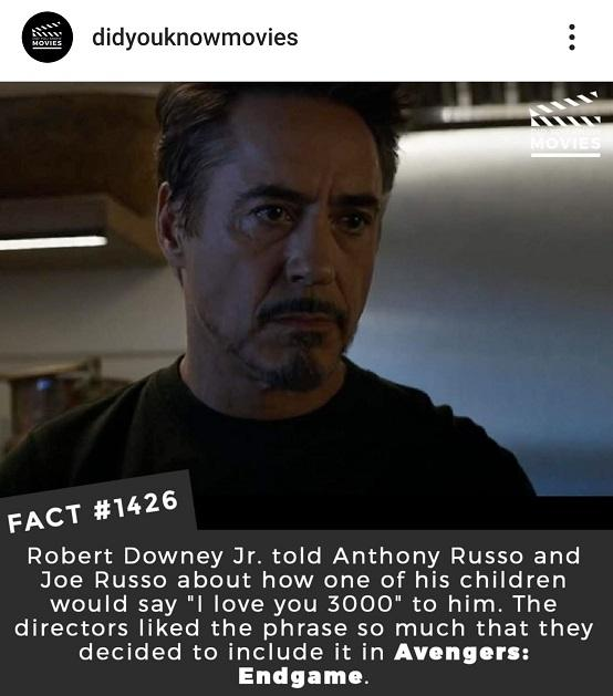 """Just The Facts : Why she said """"I Love You 3000"""""""