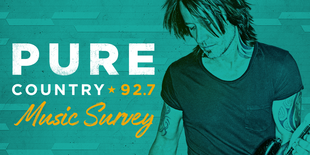 Pure Country 92.7 - Music Survey - Header