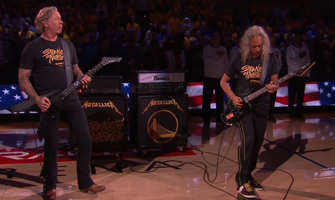 Watch Metallica Performs Star Spangled Banner At Nba Finals