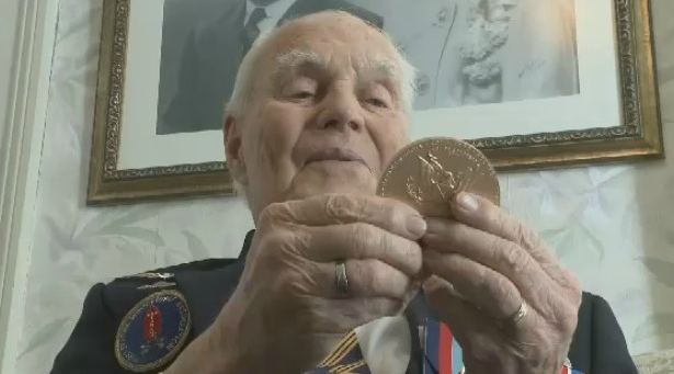 Well-known Second World War veteran and longtime Truro resident Herb Peppard passed away Wednesday, just weeks before his 99th birthday. Peppard is pictured here with the U.S. Congressional Gold Medal he and the surviving veterans of the Devil's Brigade received in 2015 (CTV Atlantic photo)