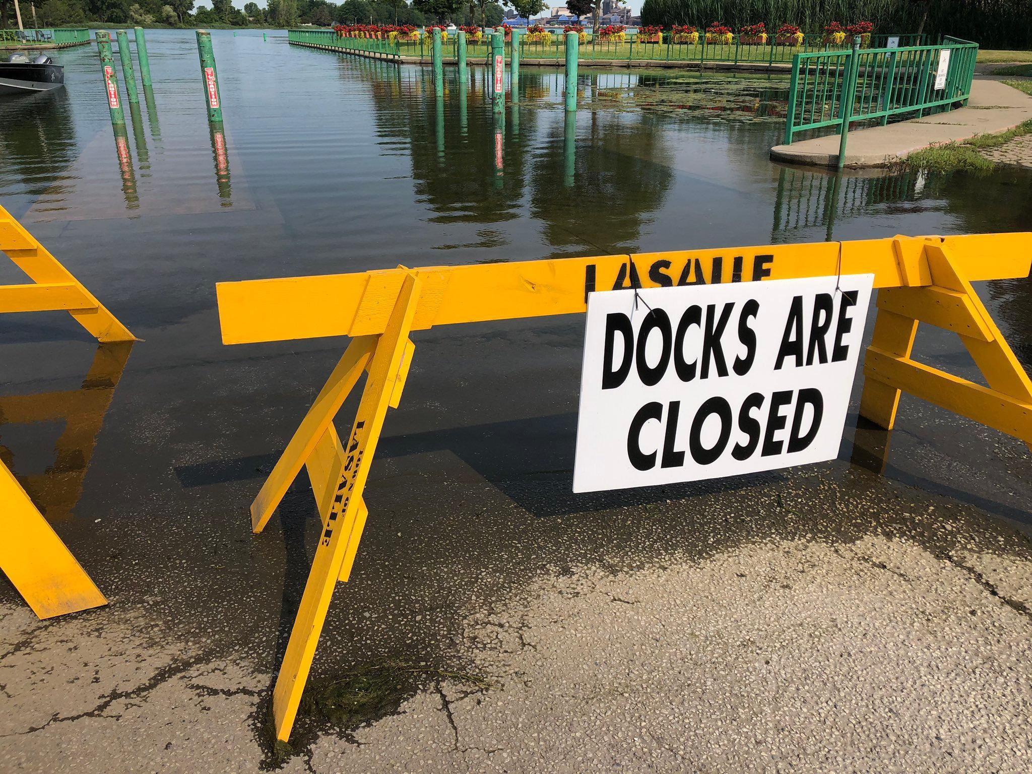LaSalle Boat Ramp Closed