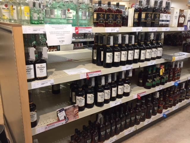 LCBO Empty Shelves