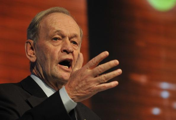 Canadian former Prime Minister Jean Chretien speaks during a panel on the Global Risk theme on the third day of the 5th Global Competitiveness Forum held in Riyadh, on January 24, 2011.