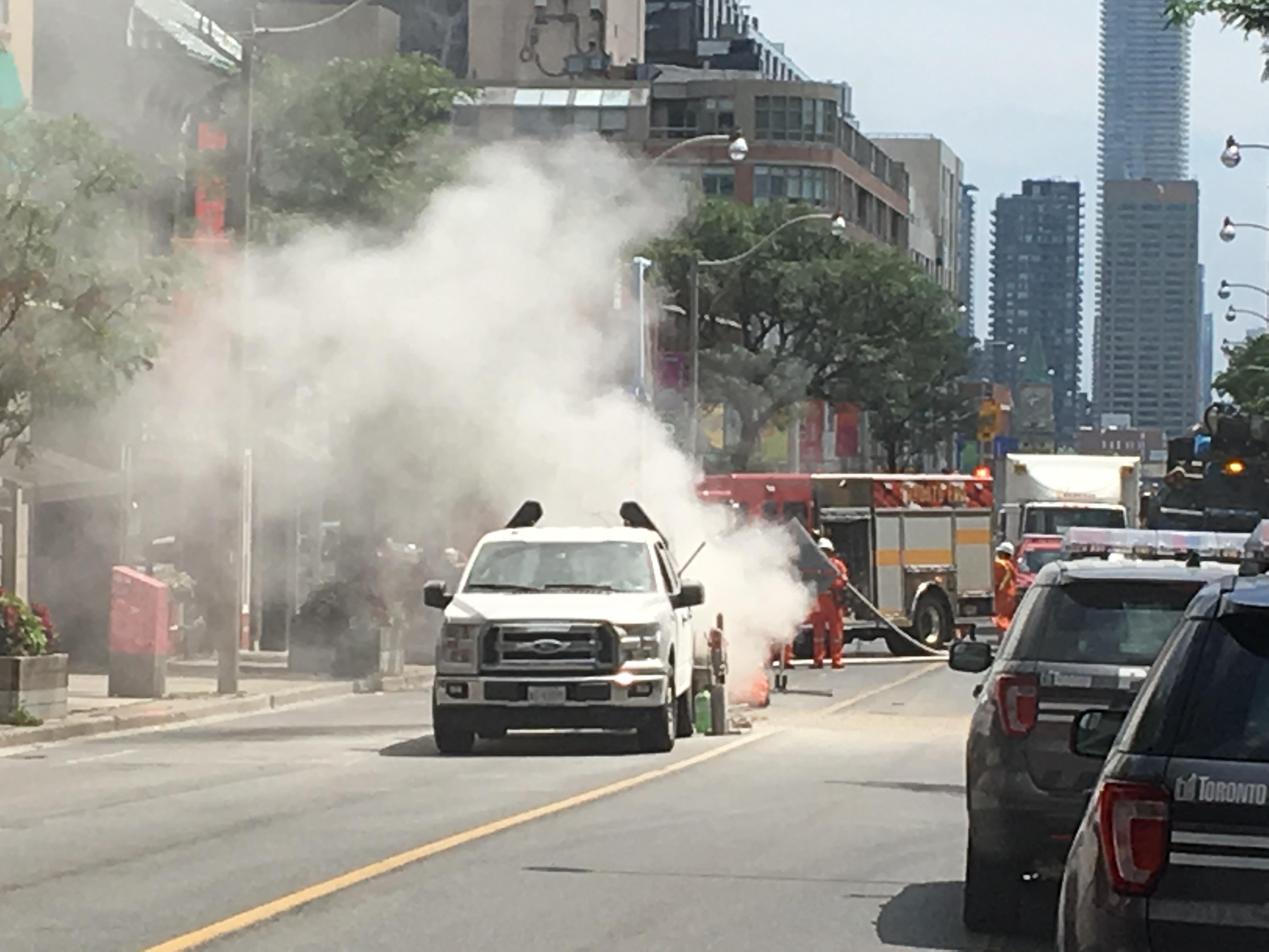 A gas leak near Yonge and St.Clair.