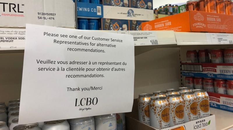 LCBO says distribution issues to be resolved in two to three weeks