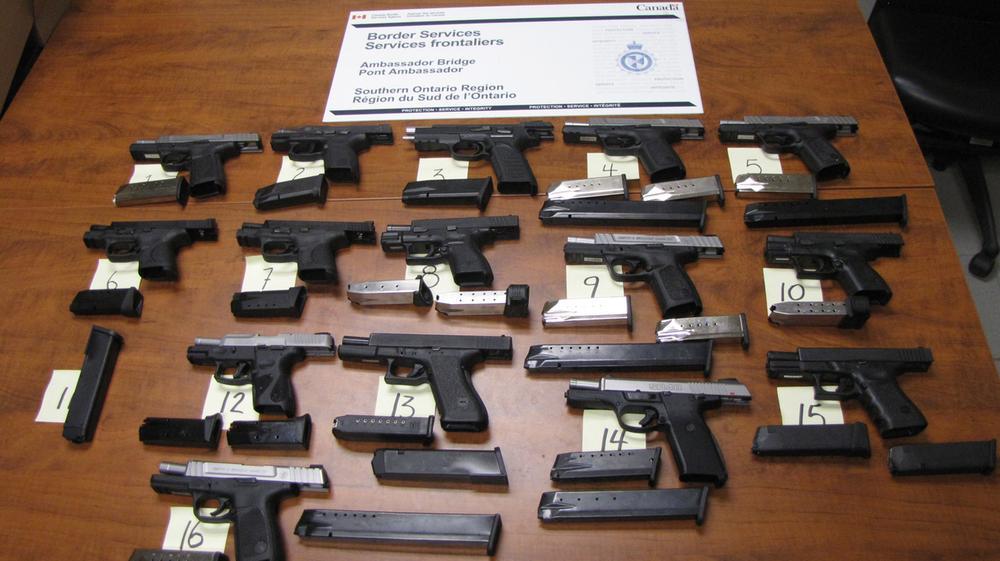 Guns Seized at Windsor-Detroit Border