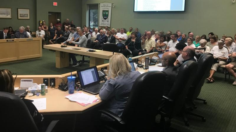 Tecumseh residents filled council chambers Tuesday evening (Angelo Aversa / CTV Windsor)