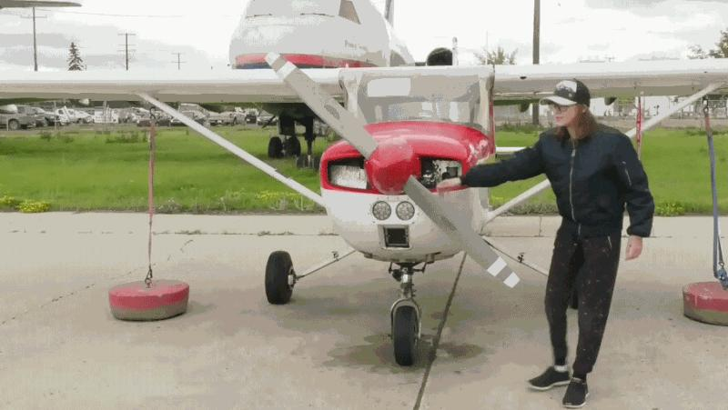 Nervous as heck': 14-year-old pilot one of the youngest in