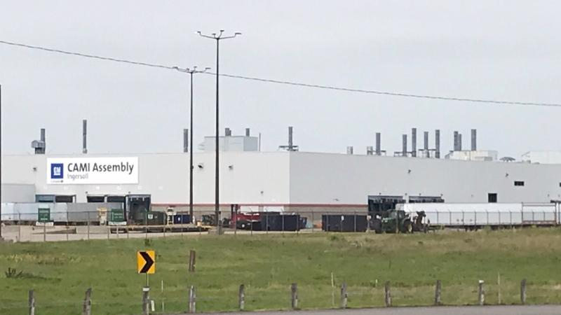 The CAMI Automotive plant is seen in Ingersoll, Ont. on Monday, Sept. 16, 2019. (Sean Irvine / CTV London)