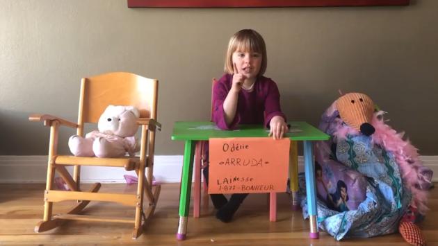 Odélie, 5 ans et demie: la «mini Horacio Arruda» de Facebook